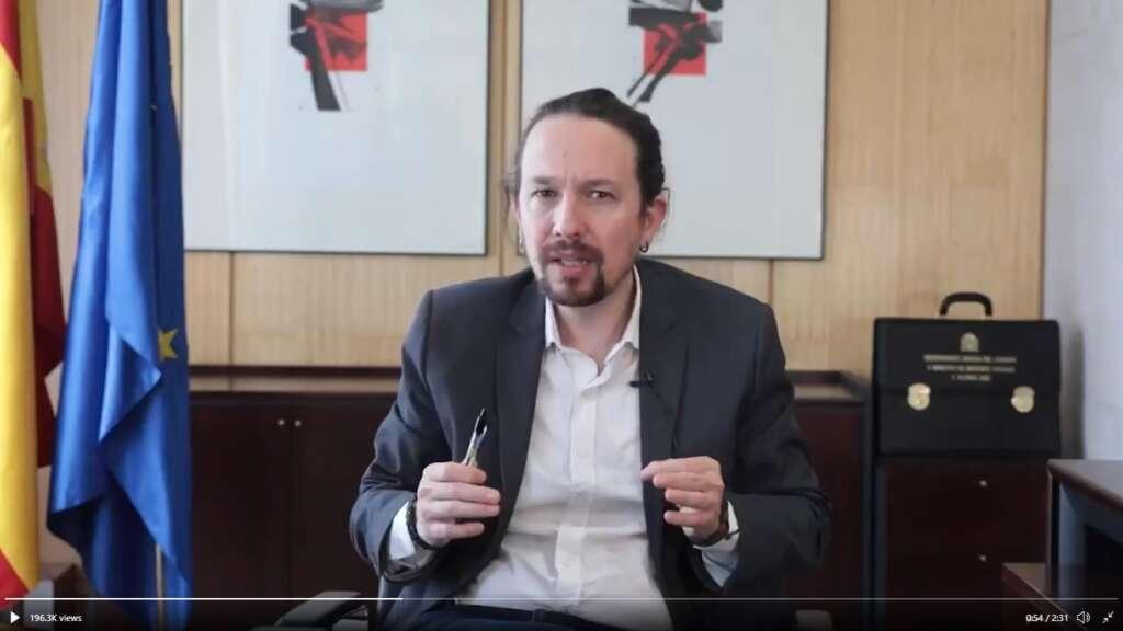 Pablo Iglesias se despide en un vídeo de la vicepresidencia segunda del Gobierno / Podemos