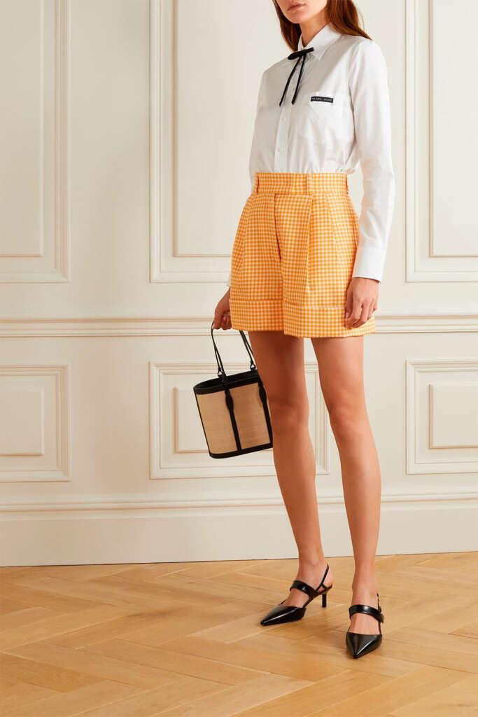 'Vichy Shorts' de Miu Miu