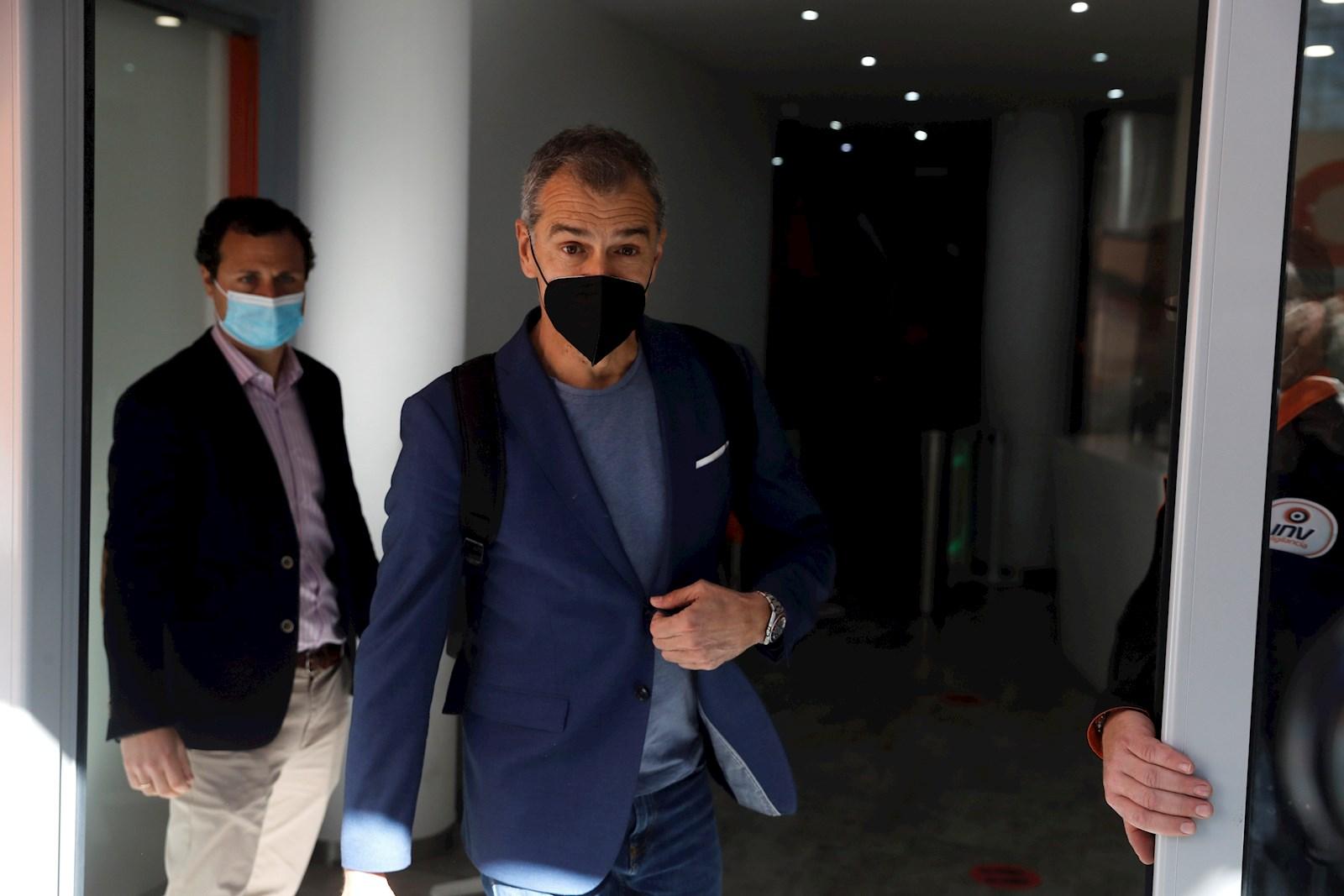 Toni Cantó a su llegada a la ejecutiva nacional de Ciudadanos tras la que presentó su dimisión, el 15 de marzo de 2021 en Madrid | EFE/EN