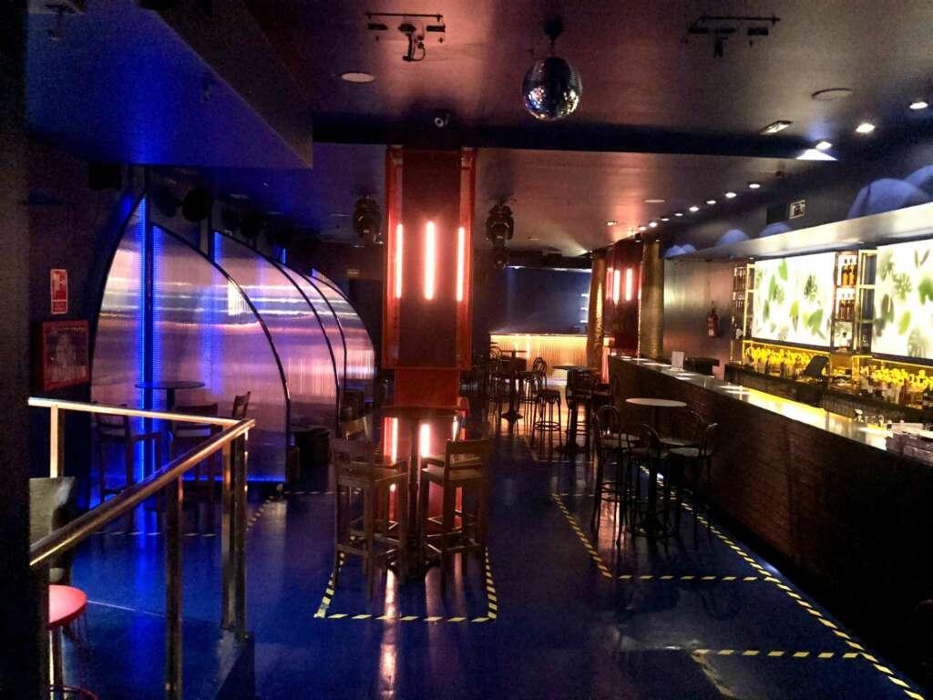 Imagen de la discoteca Samsara vacía durante la pandemia de coronavirus./ Foto cedida