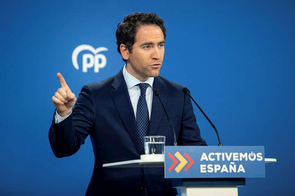 El secretario general del Partido Popular, Teodoro García Egea. EFE/Rodrigo Jiménez/Archivo