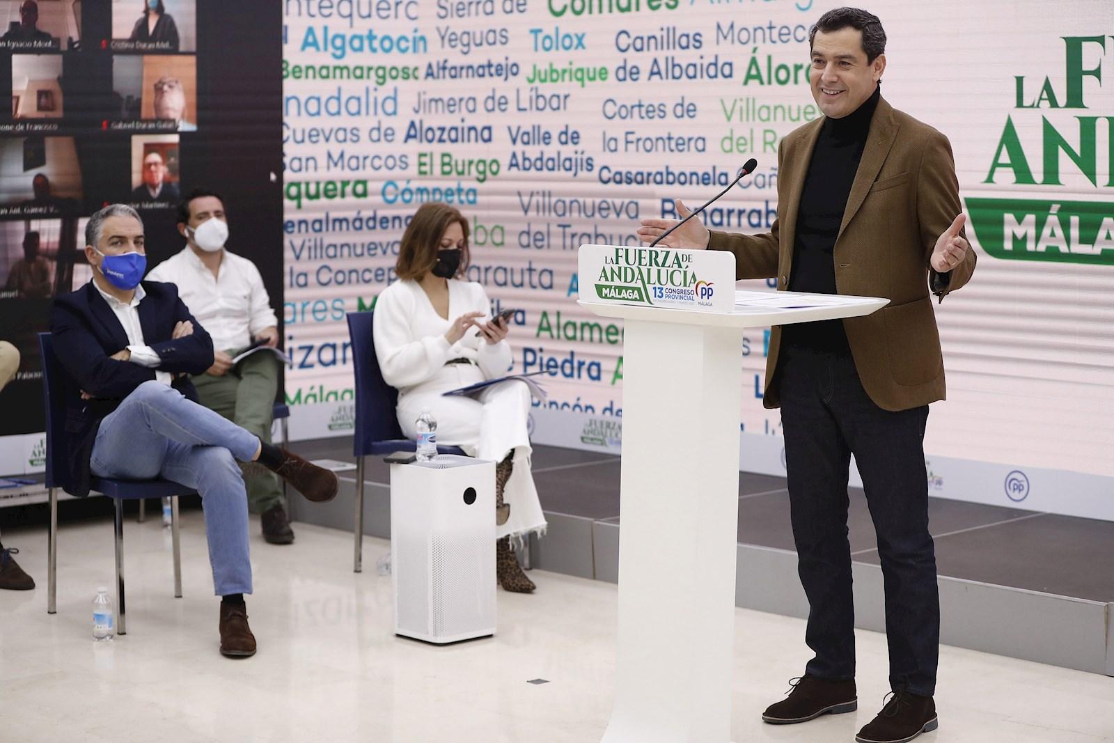 El presidente de Andalucía, Juan Manuel Moreno Bonilla.