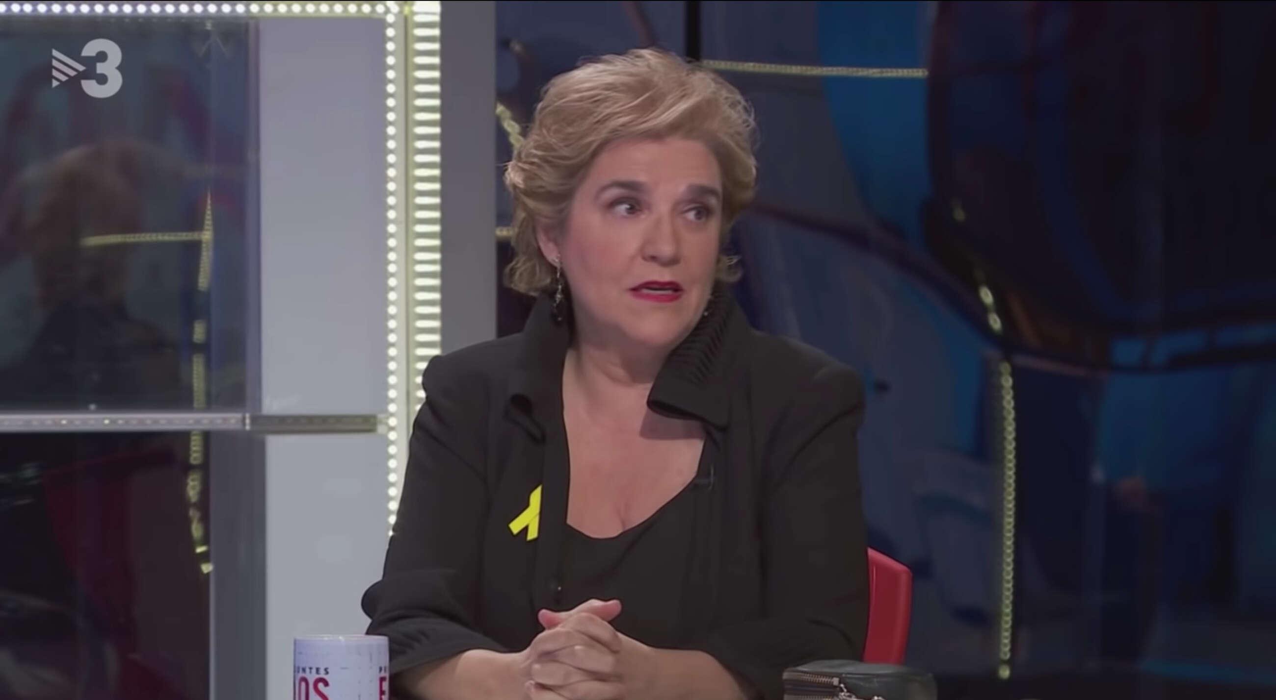 La periodista Pilar Rahola, en una tertulia del programa FAQS de TV3 / CCMA