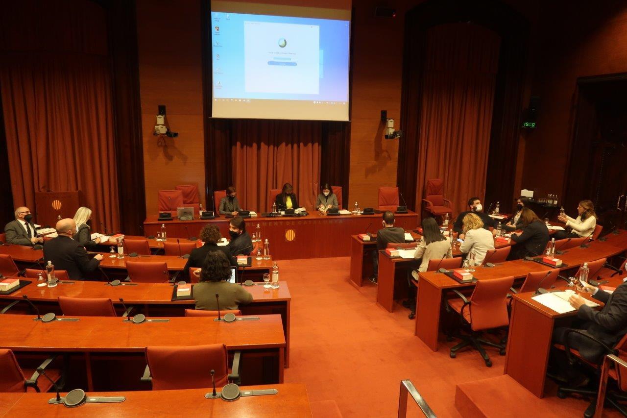 Imagen de la reunión de la Junta de Portavoces en el Parlament este miércoles 7 de abril / Parlament