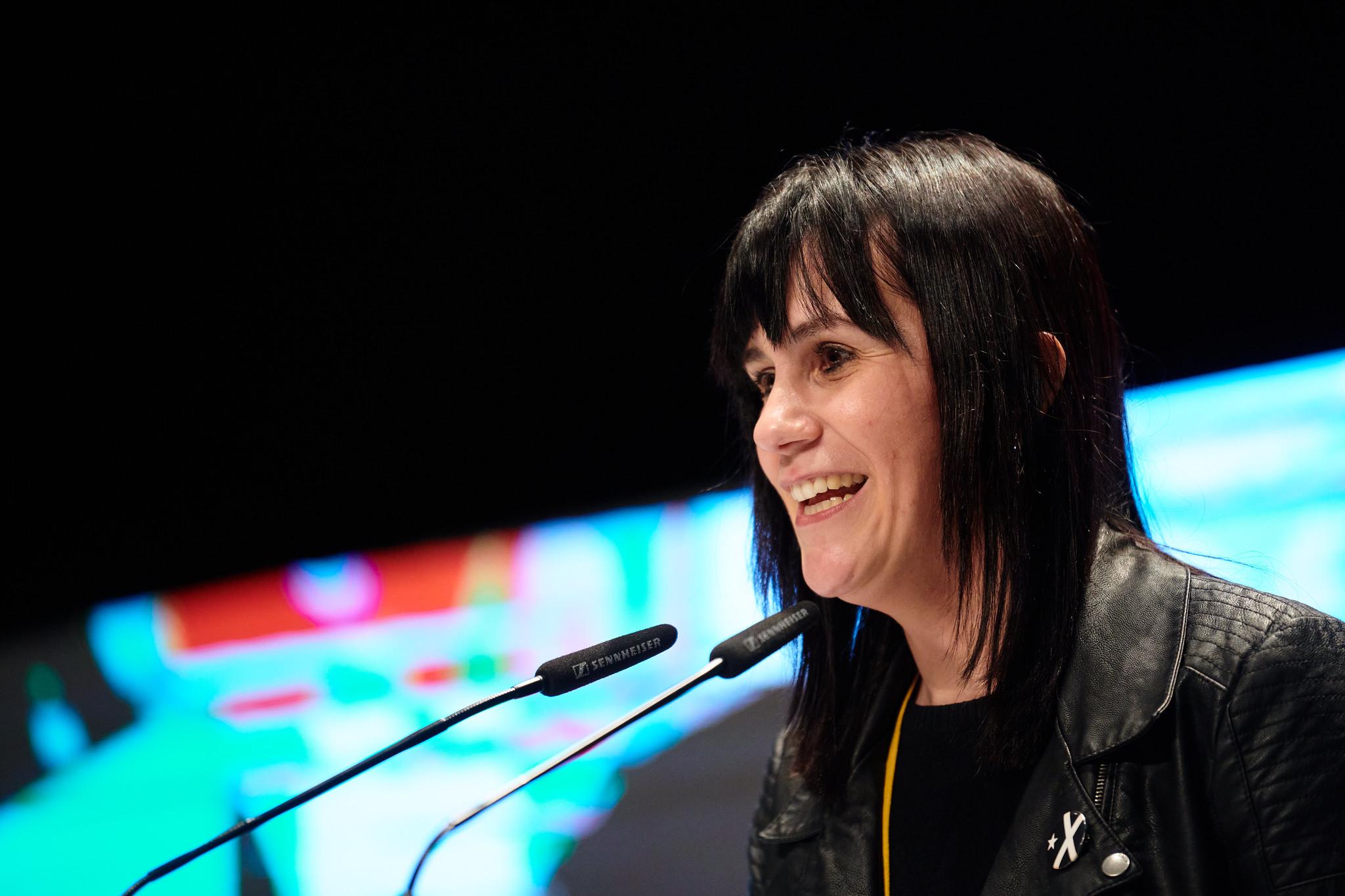 La diputada de Junts, Aurora Madaula, en un acto de partido / Julio Díaz (Junts)