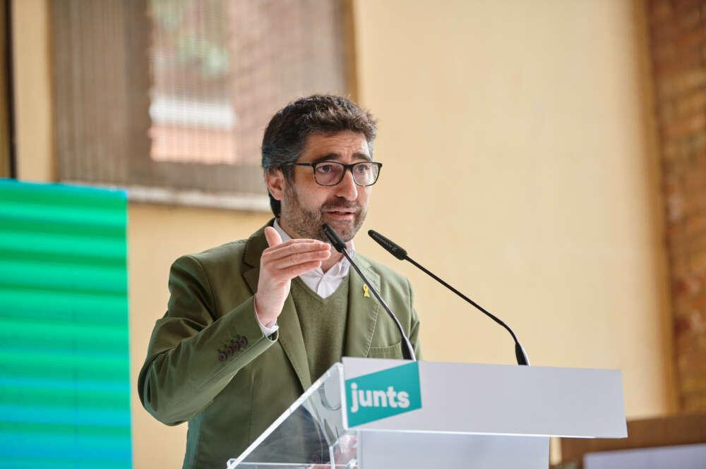 El conseller de Polítiques Digitals, Jordi Puigneró, en un acto de campaña de Junts per Catalunya en Sant Cugat / Julio Díaz (Junts)