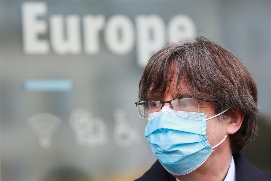 Carles Puigdemont, en Bélgica. EFE/EPA/STEPHANIE LECOCQ