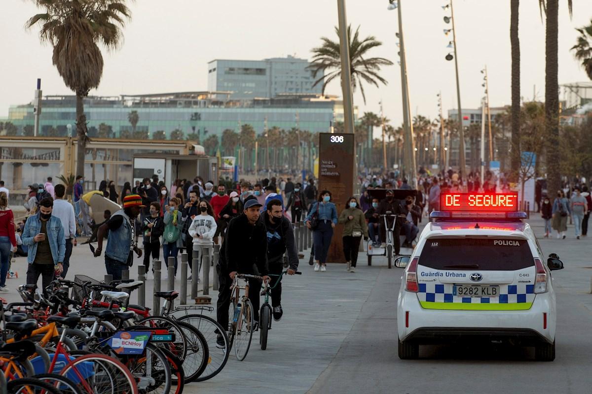 Vista del Paseo Marítimo de Barcelona el 3 de abril de 2021, en plena Semana Santa y ante el miedo de una cuarta ola de coronavirus | EFE/EF/Archivo
