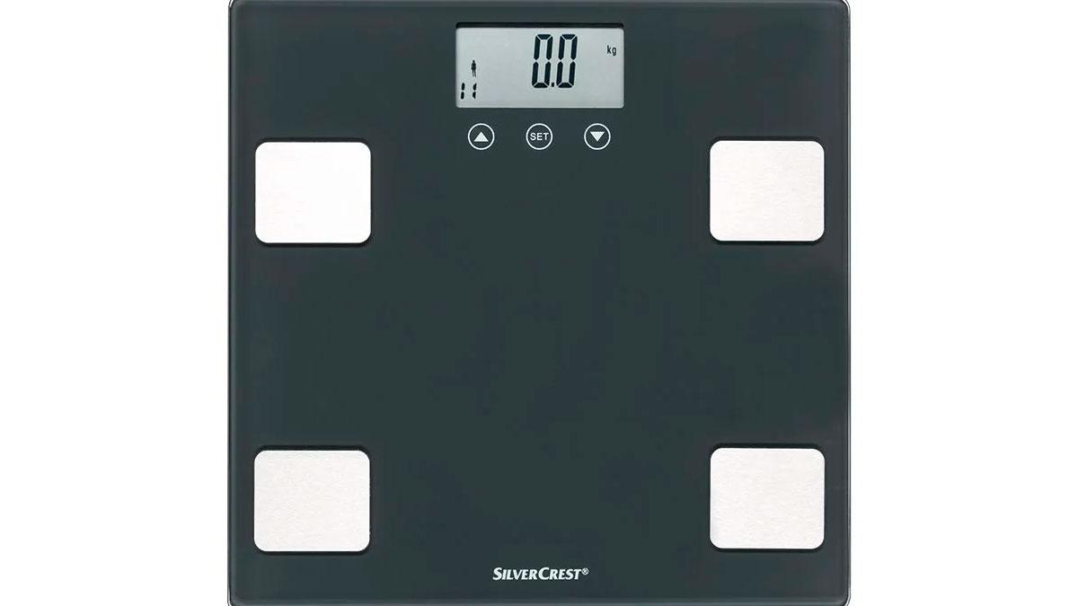 Báscula con medición de grasa corporal de Lidl