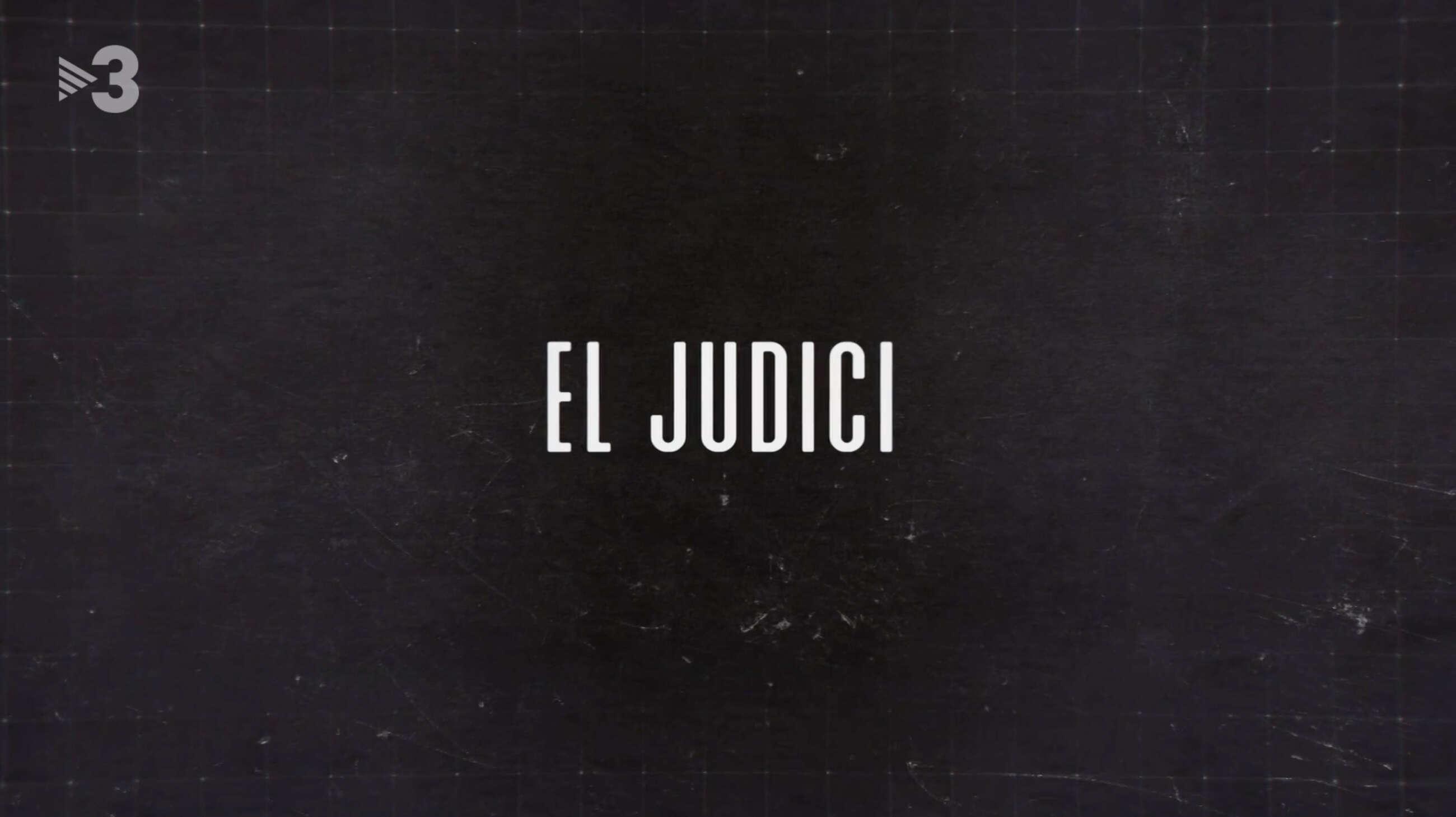 Captura de la cabecera de 'El Judici', el documental de Mediapro para TV3 sobre el judicio del 'procés' / CCMA