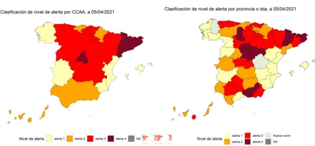 Datos de la semana del 5 de abril./ Ministerio de Sanidad