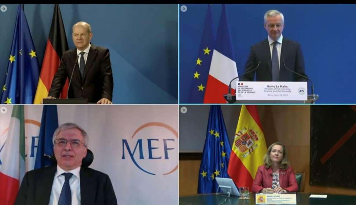 Ministros de Economía de Alemania, Francia, Italia y España. / BMF