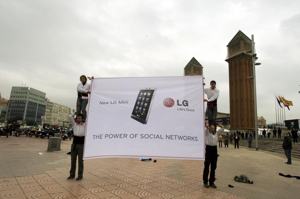 Imagen de archivo de LG en una de sus comparecencias en el Mobile World Congress de Barcelona. Fuente: LG