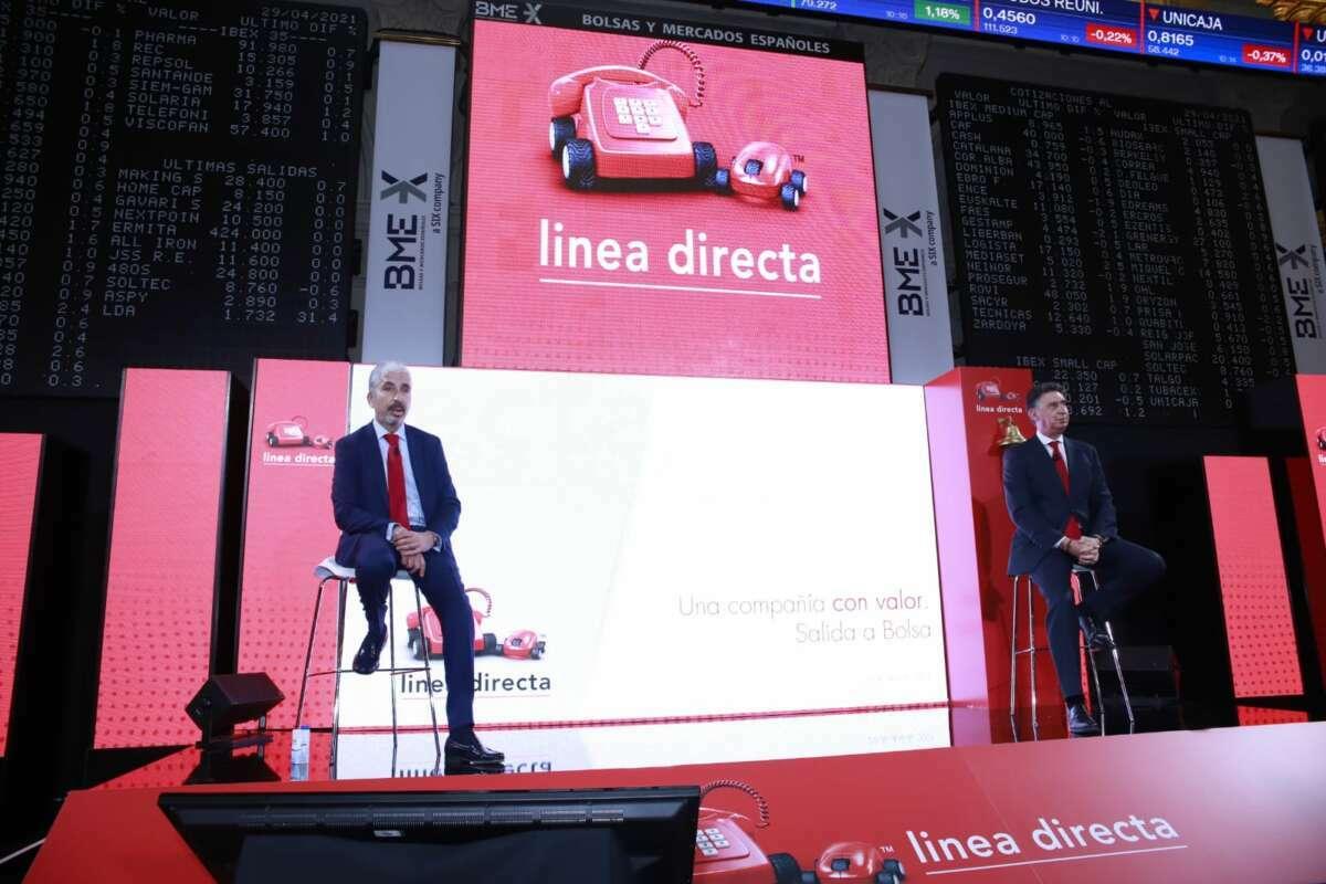 El consejero delegado y el director financiero de Línea Directa durante la salida a bolsa.