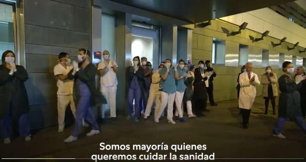 Segundo 24 del vídeo electoral de Unidas Podemos en el que aparece un hospital privado de Sevilla