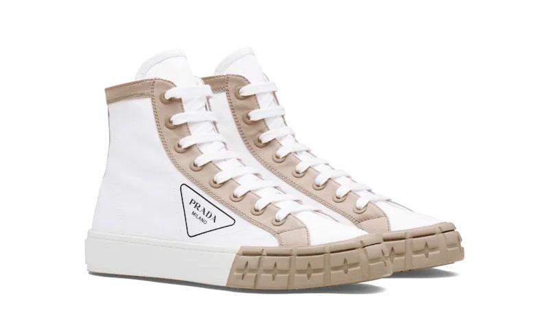 Zapatillas de gabardina de Prada