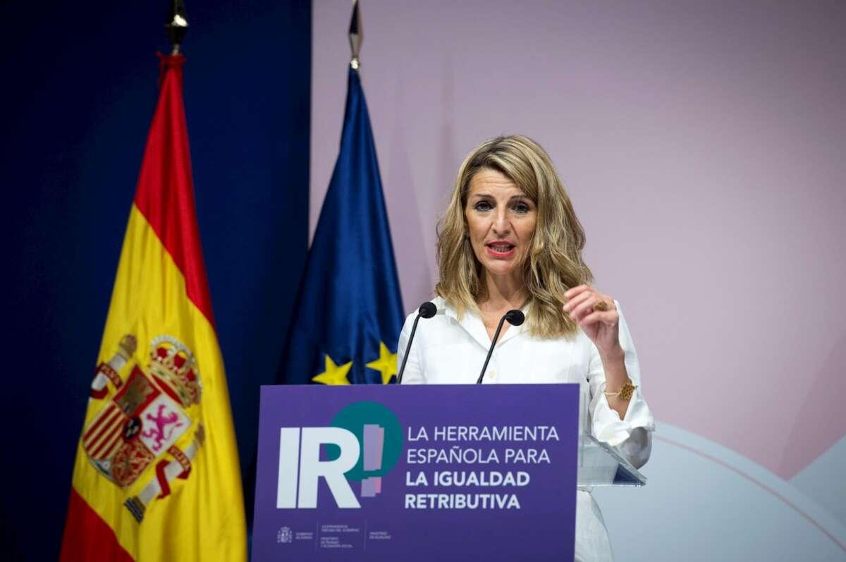 Trabajo y Economía Social, Yolanda Díaz. EFE/Luca Piergiovanni