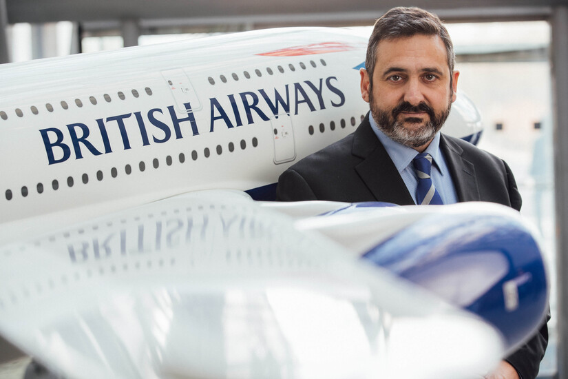 Álex Cruz en una imagen de la galería de British Airways