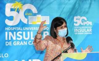 La ministra de Sanidad, Carolina Darias, este sábado en Gran Canaria./ EFE/ Elvira Urquijo A.EFE
