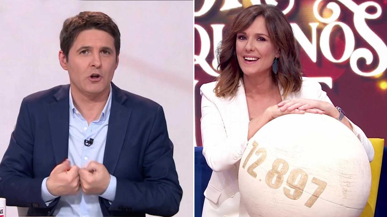 Jesús Cintora (i), conductor de 'Las cosas claras'; y Mónica López (d), presentadora de 'La hora de La 1', protagonistas de la franja matinal externalizada de La 1 de TVE | RTVE/Archivo