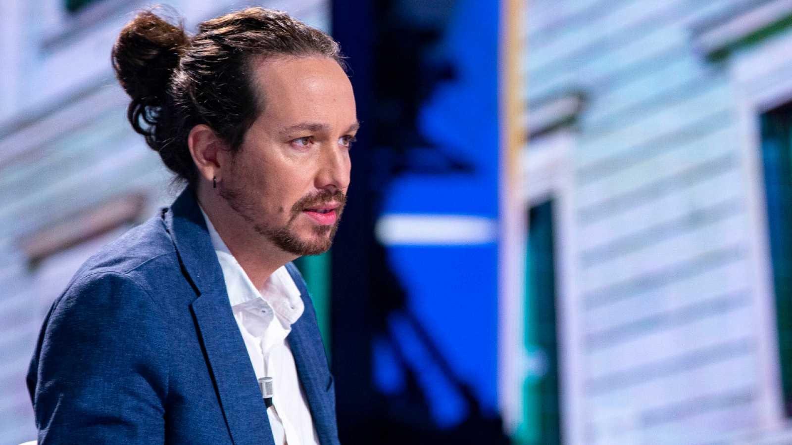 El líder de Podemos, Pablo Iglesias, en una entrevista en La 1 de TVE en septiembre de 2020 | RTVE/Archivo