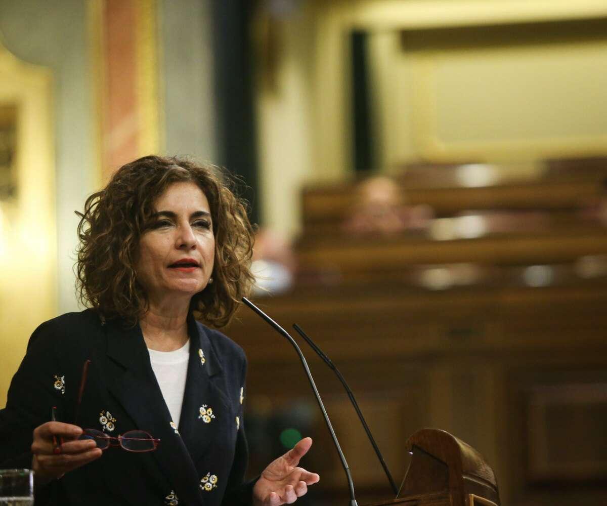 La ministra de Hacienda, María Jesús Montero, en el Congreso. / Congreso