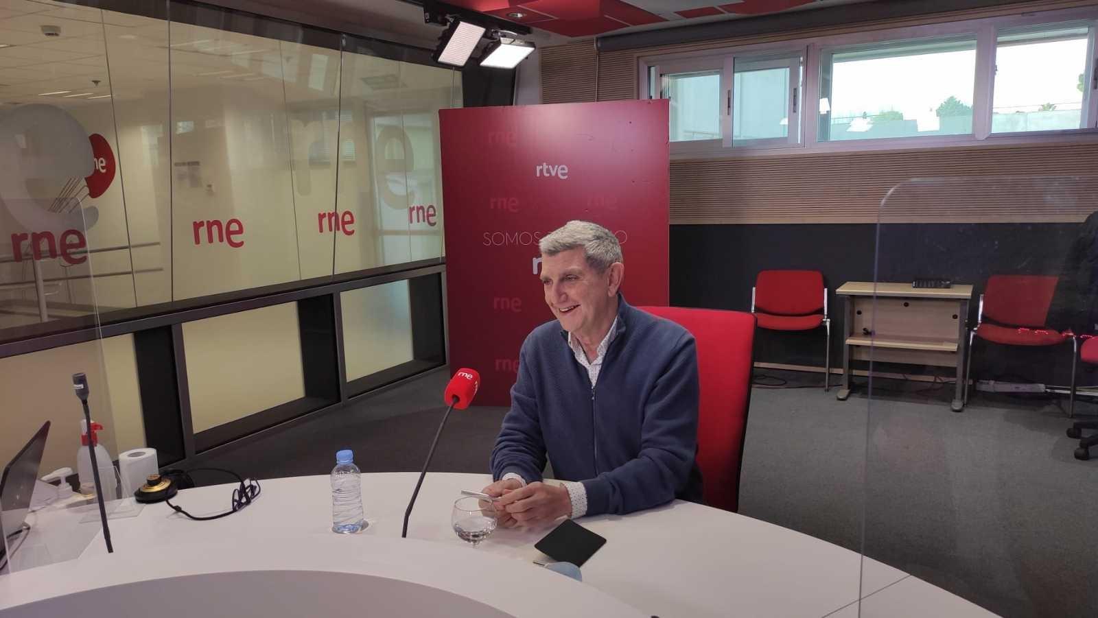 El presidente del consejo de administración de RTVE, José Manuel Pérez Tornero, en una entrevista en RNE el 29 de marzo de 2021 | RTVE/Archivo