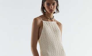 Vestido crochet halter de Zara