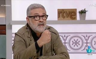 El diputado de la CUP, Carles Riera, en la entrevista a 'Cafè d'Idees' de RTVE / RTVE