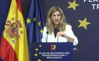 La vicepresidenta tercera, Yolanda Díaz.