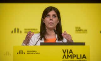 La portavoz de ERC, Marta Vilalta, en una rueda de prensa tras la reunión de la Ejecutiva del partido / Esquerra Republicana (Marc Puig)