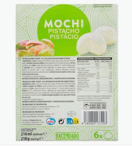 Mochi de Pistacho de Mercadona