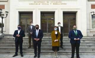 Reunión del ministro José Luis Escrivá y las organizaciones de autónomos