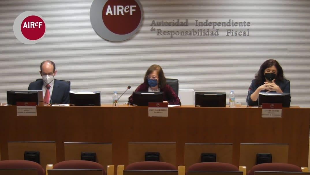 Rueda de prensa de AIReF para evaluar el Programa de Estabilidad 2021-2024