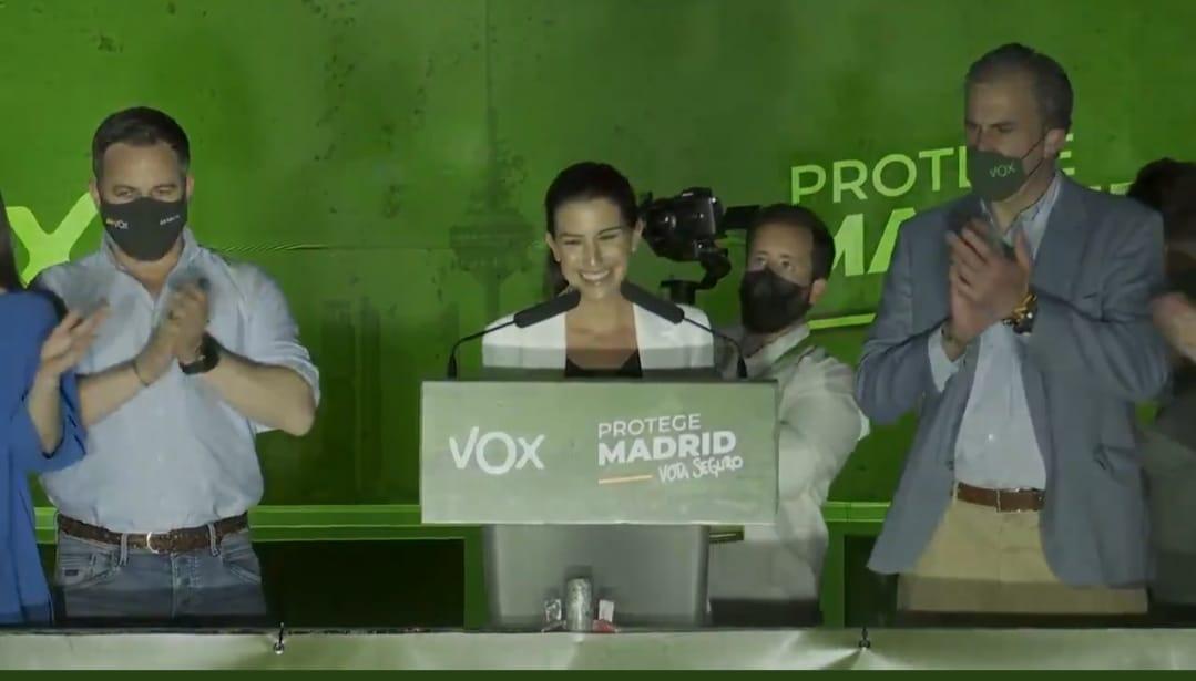 Vox celebra los resultados electorales