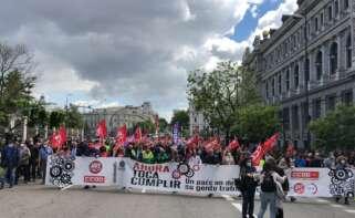 Manifestación de Sindicatos el 1 de Mayo