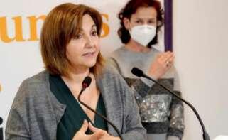 La portavoz de Vivienda de Unidas Podemos, Pilar Garrido./ EFE