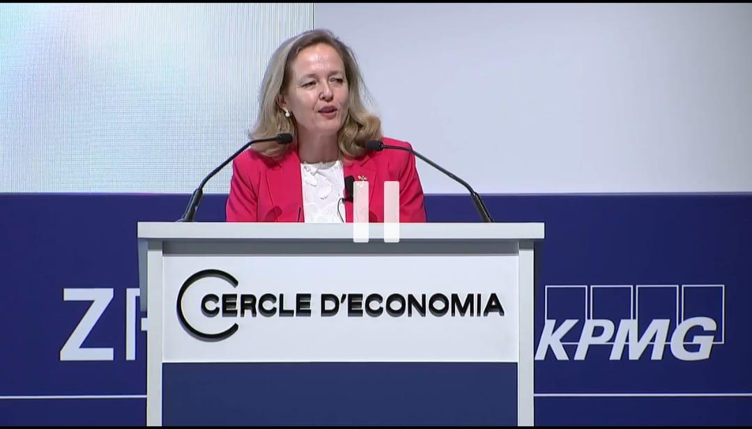 La vicepresidenta segunda, Nadia Calviño, participa en el Cercle d'Economia