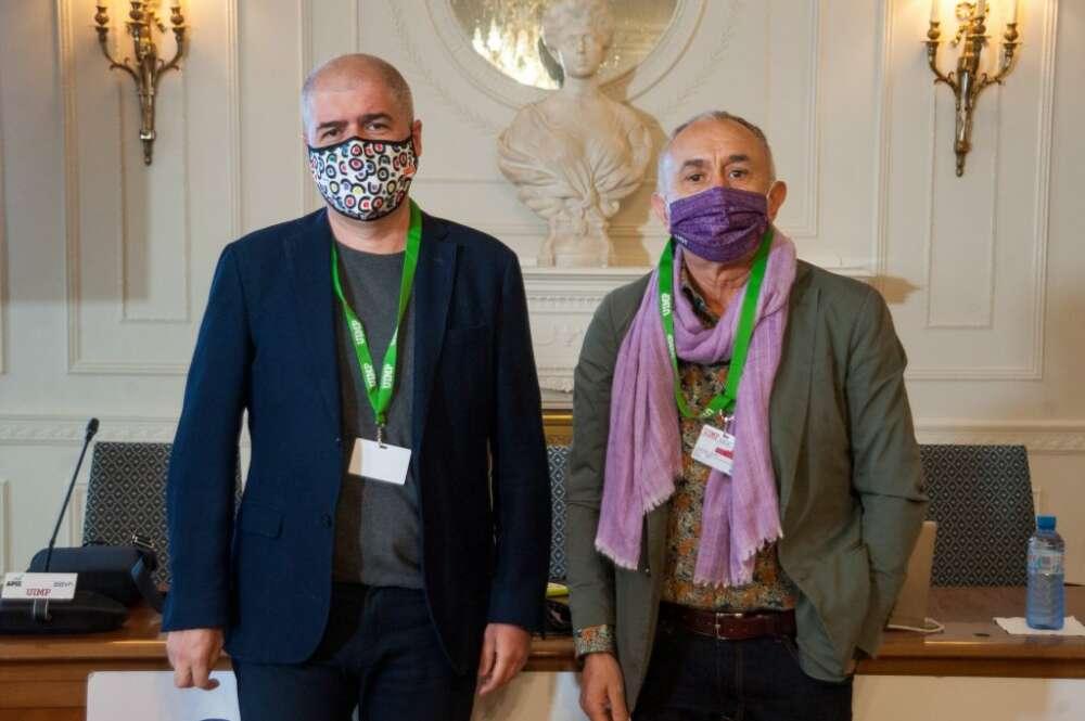 Los secretarios generales de CCOO y UGT, Unai Sordo y Pepe Álvarez