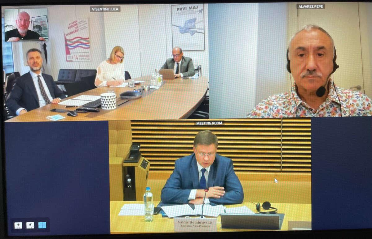 Dombrovskis se ha comprometido con el respeto absoluto a la negociación colectiva en España