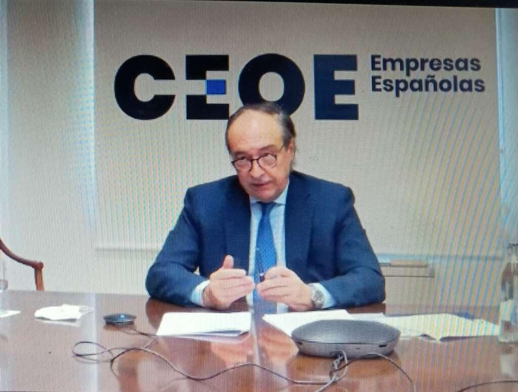 El secretario general de CEOE, José Alberto González-Ruiz.