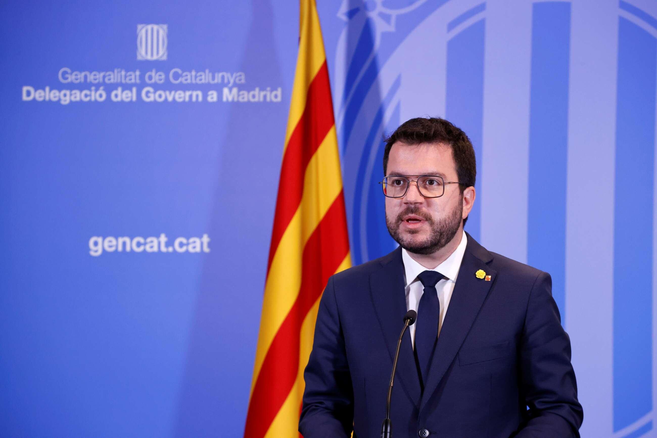 El presidente de la Generalitat, Pere Aragonès. // EFE