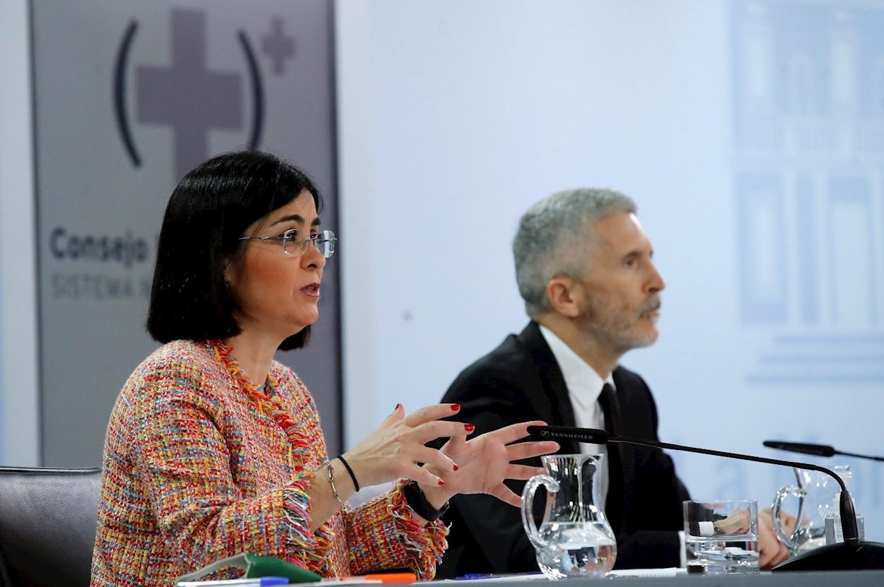 Carolina Darias y Fernando Grande-Marlaska, los dos ministros que cuentan con más reclamaciones en sus departamentos./ EFE