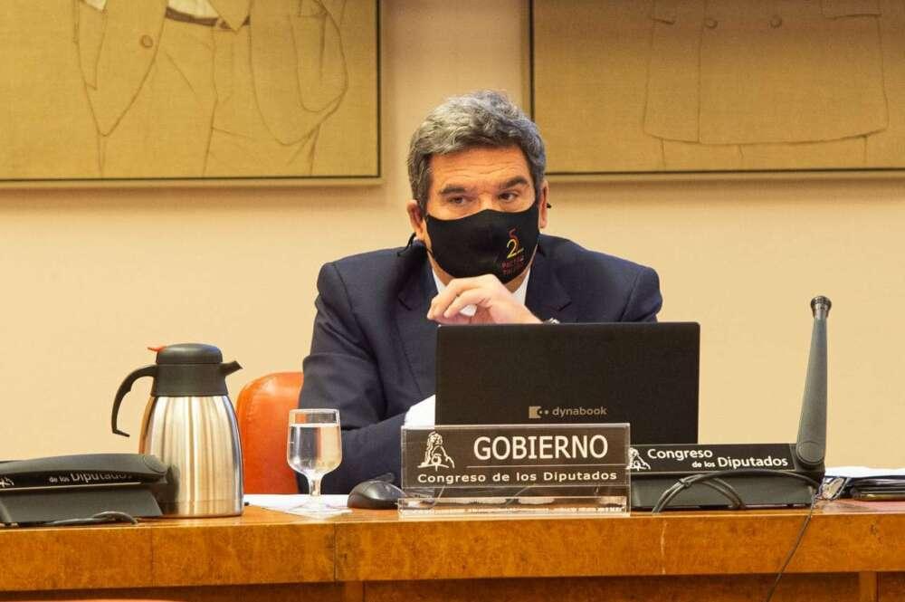 El ministro de Inclusión, Seguridad Social y Migraciones, José Luis Escrivá, en una comparecencia en la Comisión del Pacto de Toledo. Congreso.