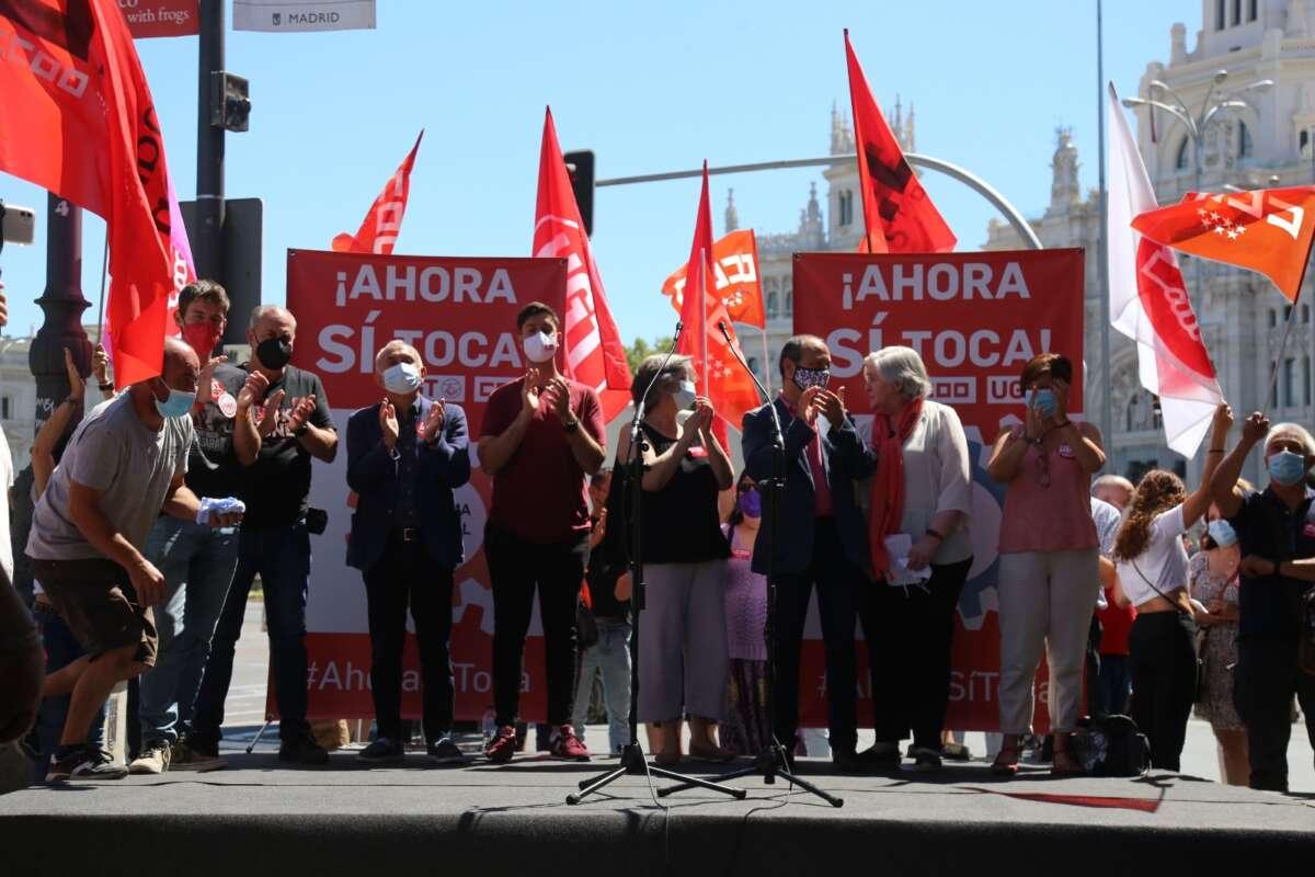 Movilización de sindicatos en Madrid para exigir que el Gobierno suba ya el SMI: CCOO Madrid