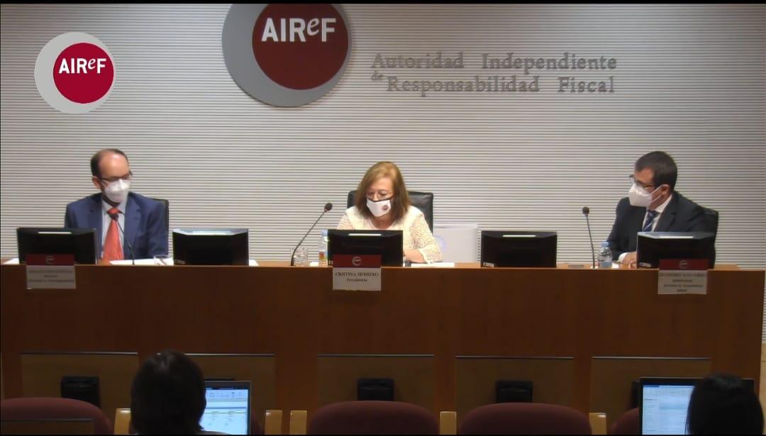 Presentación de la AIReF sobre el informe cumplimientos objetivos