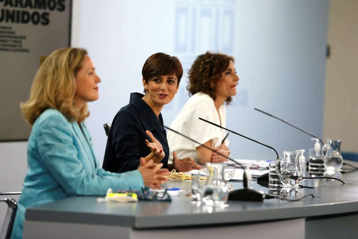 Rueda de prensa tras el Consejo de Ministros // EFE