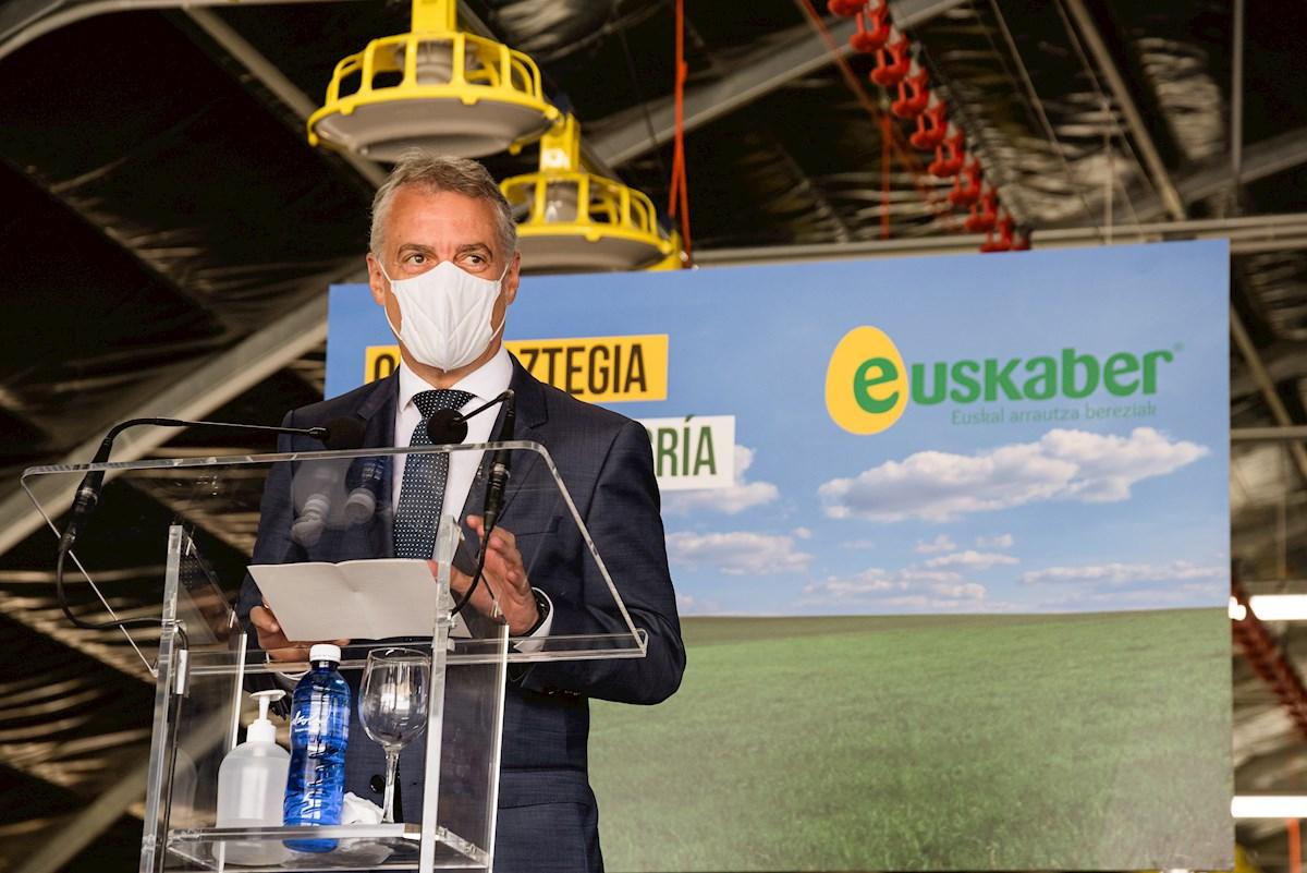 El lehendakari, Iñigo Urkullu, en una rueda de prensa. Foto: EFE/Jon Rodríguez Bilbao