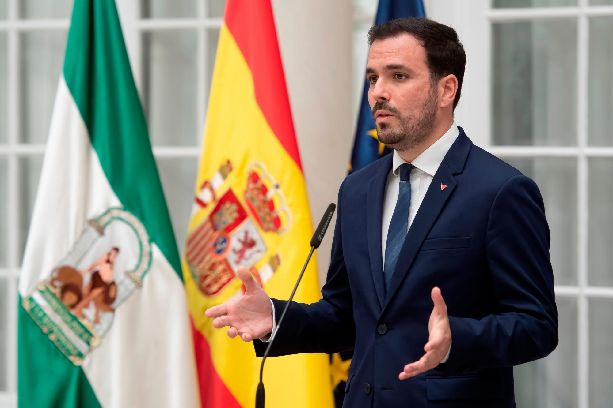 El ministro de Consumo, Alberto Garzón. EFE/ Raúl Caro./Archivo