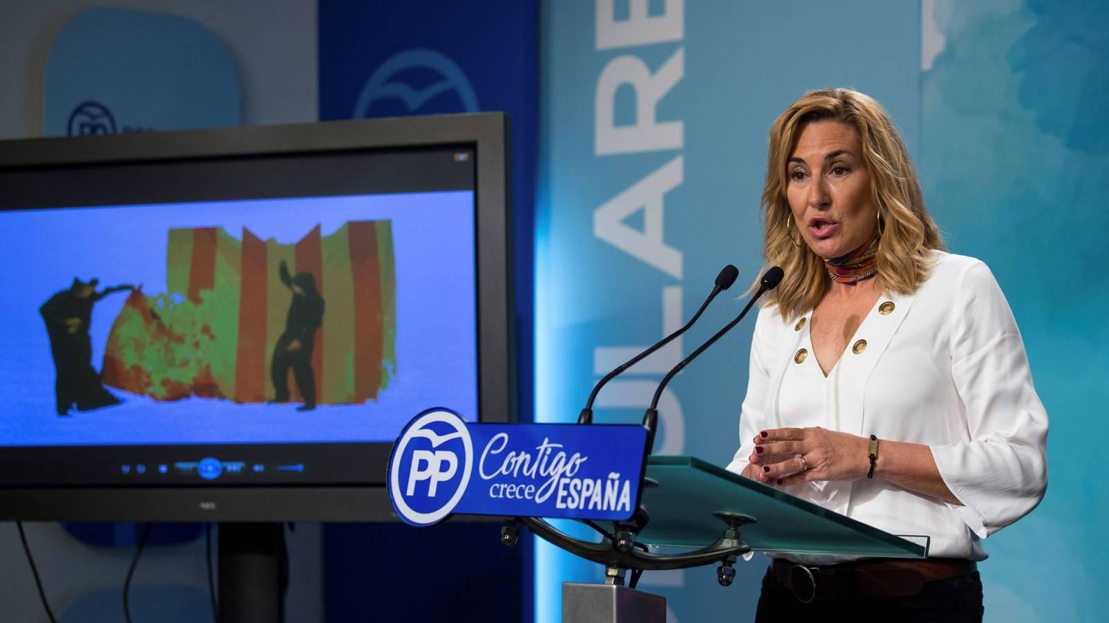 Ana Beltrán avisa que el PP no pactará la renovación del CGPJ si Podemos está en las negociaciones. // EFE